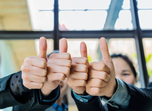Hands With Thumbs Up for Next Level Now's Temp CFO Team