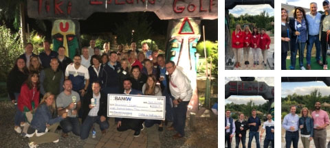 Team of CFOs from Next Level Now at KBW Financial Staffing & Recruiting's Miniature Golf Tournament